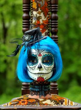 Blue Sugar Skull by mgcogan
