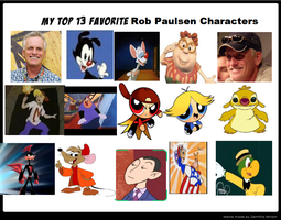 Top 13 Favorite Rob Paulsen Characters by SmoothCriminalGirl16