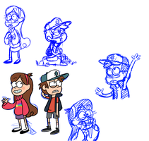 Gravity Falls doodles by PastelWing