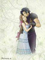 Zack and Aeris, color by animama