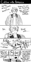 APH- Coffee with America by burntnoodles