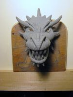 red dragon head- maquette by damocles-shop