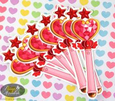 Pink Sugar Heart Attack Stickers by chat-noir