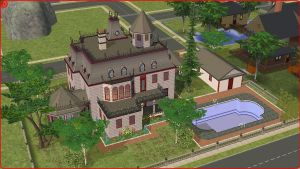 Sims 2 Victorian home by RamboRocky