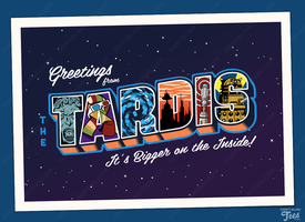 Greetings from the TARDIS Postcard by dontblinktees