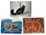Cats ACEOs by LimehouseBlues