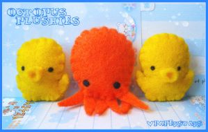 Octopus Plushies by littlepaperforest
