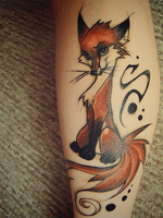 Renard tattoo by FoxInShadow
