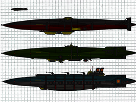D. C. I. Airship types 2 by TenebraesRising