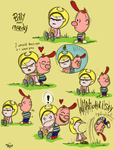 Peanuts Billy and Mandy by Jowybean