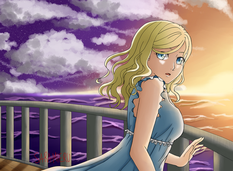 The girl and the sea by sarachan1818