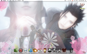Aerith and Zack Wallpaper by AllyCatastrophe