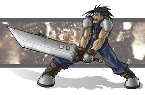 Final Fantasy 7 Zack Color by ShadowMaginis