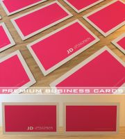 Premium Pink Business Card by Freshbusinesscards