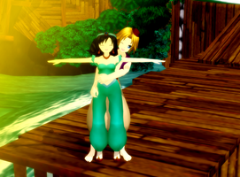 MMD Aladdin and Jasmine Download by Pucaroo16