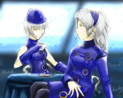 P3+P4: Blue hostesses by bahamutneo