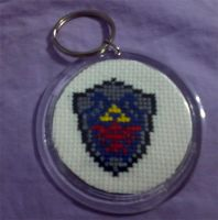 Hyrule Shield Keychain by cosplay-kitty