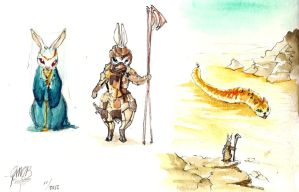 Dune ... Bunnies by Glorielfwings