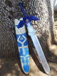 Twilight Princess Master Sword and Scabbard by meanlilkitty