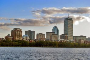 Boston River Skyline by MrSlowNiko