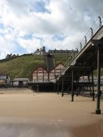 Saltburn Pier looking inland by sicklittlemonkey