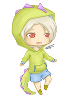 Chibi: Dino boy by ShineDUS