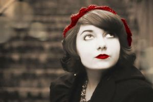 vintage red hat by ladyinart
