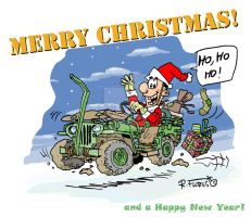 Willys jeep MB Christmas card by Roberto67