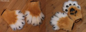 Handpaws for Dess by TheKareliaFursuits