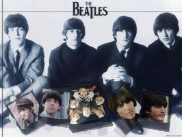 The Beatles by skadieverwinter