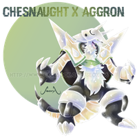 Chesnaught X Aggron by Seoxys6