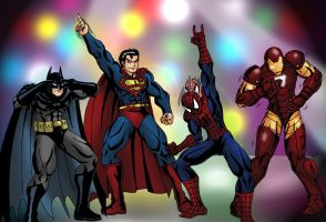 Marvel X DC Dance Off by taresh