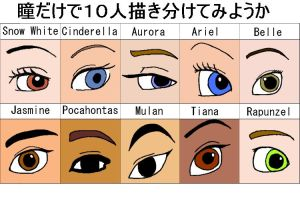 Eyes of Disney Princess by raito-toko