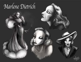 Marlene Dietrich by Chansey123