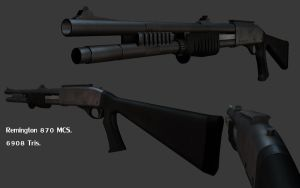 Remington 870 MCS by laughinghelicopter