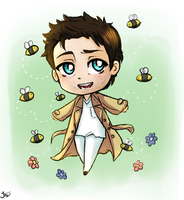 SPN: Watching the bees by Jaskierka