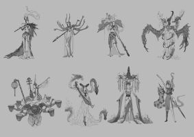 character design thumbnails by openanewworld