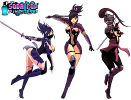 Dimensional Ninjas for Soda Pop Miniatures by SoyUnGnomo