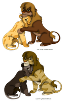 Couple auction lion adopts by Iva-Inkling