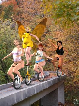 The unicycle team by Chronophontes