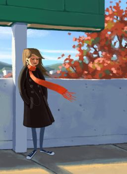 December Commuting by melissa-king