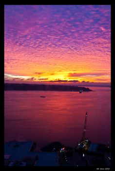 Sunset over the Puget Sound by Perzypoo
