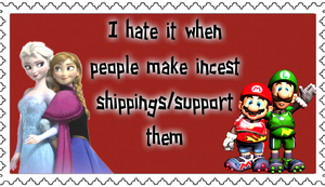 Hate incest shipping by blackthunder040997