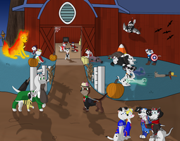 Farm Of The Halloween Hour by Babclayman