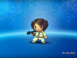 Princess Leia Chibi Version by DeepBlueNine