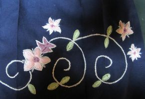 Yuna skirt embroidery progress by GebGeb