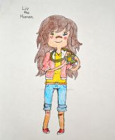Liv the Human Adventure Time OC by JumpySquirrel