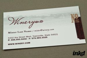 Classic Winery Business Card by inkddesign