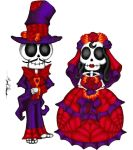 Dia Del Los Muertos Bride and Groom by MaverickTears