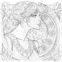 Art Nouveau LILLY by nathanscomicart